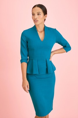 BELGRAVIA PEPLUM DRESS
