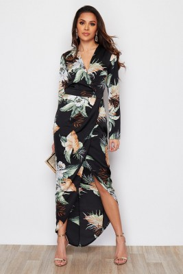 Tropical Wrap Sleeve Indie Maxi